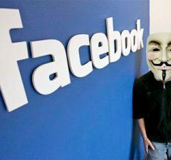 Facebook a účty, Anonymous a útok na Facebook